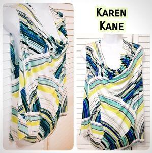 Karen Kane Made Cowl Neck Sleeveless Blouse